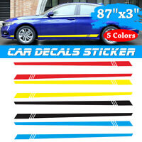 Universal Car Auto Long Stripe Decals Graphics Both Side Body Viny Wrap