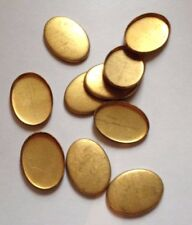 10 x Vintage Oval Brass Cameo/Cabochon/Stone Settings - 18 x 13 mm -Milled edges