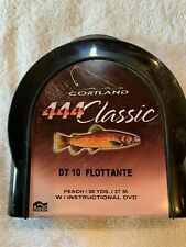 Cortland 444 Classic Double Taper, 10wt, Floating Fly Line, Peach color, New.