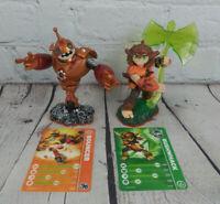 Skylanders Giants Bouncer & Bushwack Figure Lot Wii U Switch PS4 Xbox 1