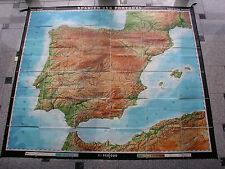 Wandkarte Spanien Iberia 1971 198x172 vintage wall map Iberia Spain B 西班牙 J スペイン