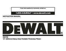 Dewalt dw735-xe manuals.