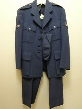 Orig 1950 USAF Air Force Blue Wool Uniform Dress Coat Hat & Pants Korean War 37S