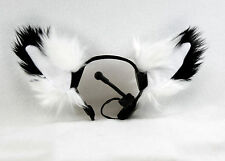 PAWSTAR NECOMIMI Fox Sleeves ONLY - White Furry Covers Replacement Ears [WH]3092