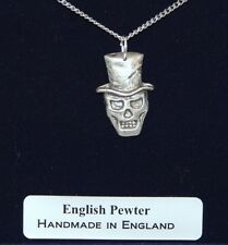 Baron Samedi VooDoo Necklace in English Pewter, Handmade, Gift Boxed (H)