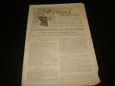 1926 LA VOCE DELLE MAESTRE D'ASILO LA RIFORMA FASCISTA DEL MONTE PENSIONI