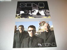 2 x SONO Autogramm/Postkarten - Depeche Mode