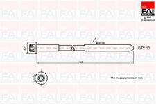Head Bolt (Box Of 10) To Fit Ford Fiesta Mk Iv (Ja_ Jb_) 1.25 I 16V (Zetec)