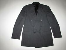 Burberry Men's Pinstripe Suit Jacket Size 40 Regular Gray Wool Double Breasted R