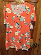 NWT LuLaRoe Perfect T XS Bright Floral Short Sleeve Top