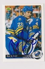 92/93 Upper Deck Bob Sweeney Buffalo Sabres Autographed Hockey Card