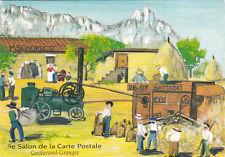 GRANGES-LES-VALENCE 1993 9 ème salon carte postale battage batteuse blé
