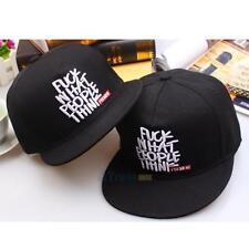 Fashion Mens Unisex Bboy Brim Adjustable Baseball Cap Snapback Hip-Hop Hat Print