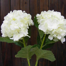 White Artificial Silk Flower Hydrangea Hotel Wedding Party Floral Decor Art DIY