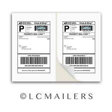 300 Shipping Labels 8.5x5.5 Square Corner Self Adhesive 2 Per Sheet PACKZON®