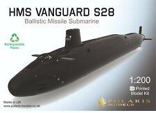 1:200 HMS Vanguard S28 - Ballistic Missile Submarine 3D printed model kit750 mm