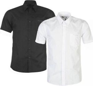 ✅ PIERRE CARDIN Herren kurzarm Hemd Stehkragen Business Freizeit Short Shirt NEU