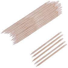 20 Mixed Wood Cuticle Nail Pusher Stick Manicure Hoof Manicure  Orange Sticks