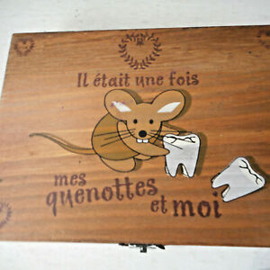 Wooden Country Casa French Tooth Fairy Box Organizer