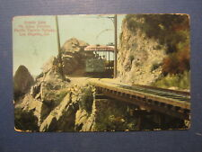 1915 Pacific Electric Railway - TRAIN POSTCARD - Granite Gate - Los Angeles CA.
