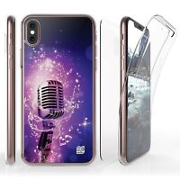 For iPhone X Full Coverage Front Back Protector Case Microphone