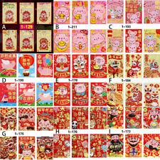 6X Amimals Red Envelope To Fill In Money Chinese Traditions Hongbao Gift#Pres Jw