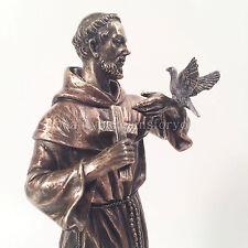 St. Francis of Assisi Sculpture Christian Statue Figure RELIGIOUS DECOR