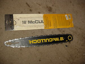 """18"""" CHAINSAW BAR FOR MCCULLOCH 3214 3216 3516 3518 3816 3818 110 120 130 340"""