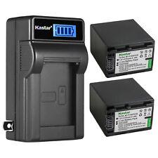 Kastar NP-FH100 Battery + Charger for Sony DCR-SR42 DCR-SR45 DCR-HC94 DCR-HC96