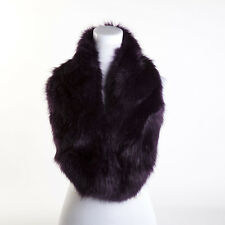 luxury Ladies Fashion Faux Fur Collar Scarf Fluffy Winter Shawl Wrap Stole