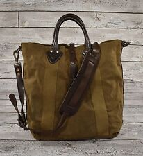 e1ea6a9f7c Ralph Lauren RRL Distressed Washed Canvas Leather Tote Bag New