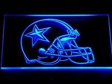Dallas Cowboys Helmet LED Neon Sign 12'' x 8'' Bar cub light Football
