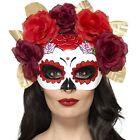 Disfraz de Halloween DÍA DE LOS MUERTOS Rosa Ojo Máscara De SMIFFYS