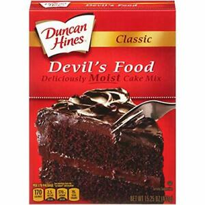 Duncan Hines Classic Devils Food Cake Mix, 15.25 Ounce Box