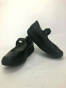 MBT  Sirima Mary Jane Shoes Women's Size 7.5 Black Leather Comfort Toning Rocker