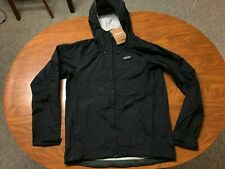 MENS NEW WITH TAGS PATAGONIA TORRENTSHELL BLACK H2N0 RAIN JACKET SIZE SMALL