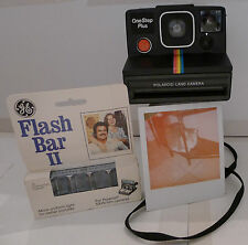 Polaroid SX-70 Rainbow OneStep Plus Instant Film Camera +New Flashbar TESTED