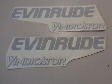 "EVINRUDE VINDICATOR PORT / STARBOARD PAIR (2) DECALS 17 7/8"" X 5 1/4"" BOAT"