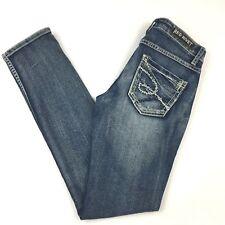 Red Rivet Juniors Denim Skinny Jeans Faded Medium Blue Size 7