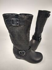 NEW! Skechers Youth Girl's Heart-Stoppers Haute Calf Boots Black#87742L 201FG cc