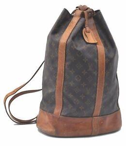 Authentic Louis Vuitton Monogram Randonnee GM Shoulder Bag M42244 LV C7446