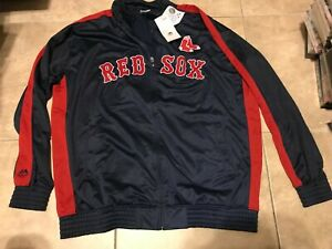 Majestic Authentic Boston Red Sox Zip Front Jacket Big &Tall Mens 3XL NEW w/ Tag