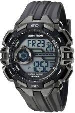 Armitron Men's Black Resin Digital Watch, 100 Meter WR, Chronograph, 40/8411GBK