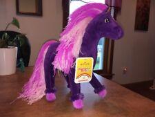 Bnwt Hallmark Rainbow Brite Stormy's Stuffed Plush Purple Pink Horse *Skydancer*