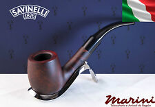 Pipa Pipe Capitol Bruyere by Savinelli radica verniciata scura curva 607 KS