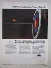 8/91 PUB ROCKWELL AUTONETICS GUIDANCE ICBM BOW ARC TARGET CIBLE ORIGINAL AD