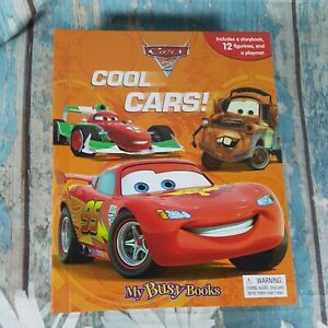 Disney Pixar Cars 2, Cool Cars! My Busy Book - Story Book 12 Figurines & Playmat