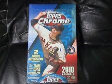 2010 TOPPS CHROME BASEBALL FACTORY SEALED Hobby BOX 24 packs / 4 cards STANTON