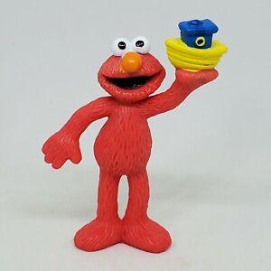 Vintage Elmo with Boat PVC Figure Sesame Street 1997 Tyco Cake Topper Sailboat