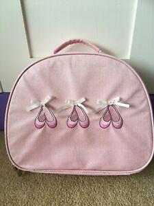 Katz Dancewear Ballet Shoes Sparkly Pink Kit Bag VGC